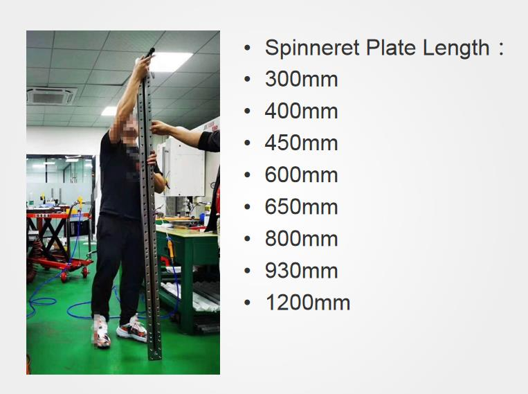 Spinneret plate length